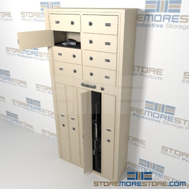 freestanding long arm ammo multi-door cabinets