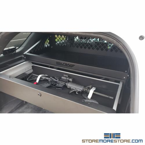 police suv trunk weapon locker