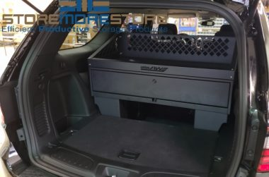 police SUV weapons storage