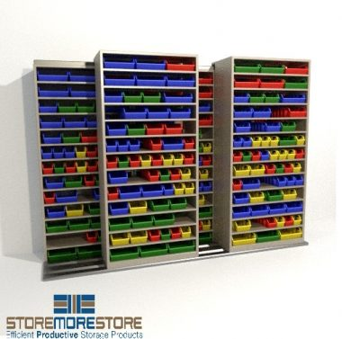 boltless-small-parts-stacked-mobile-storage-bin-racks