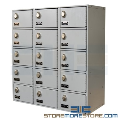 steel cell phone & wallet wall lockers