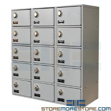 steel cell phone & wallet wall lockers