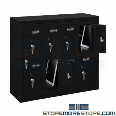 steel cell phone tablet & wallet wall lockers