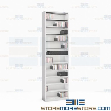 audiovisual file storage movable dividers