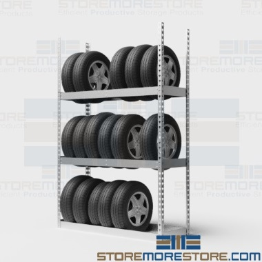 car tire wall storage shelving