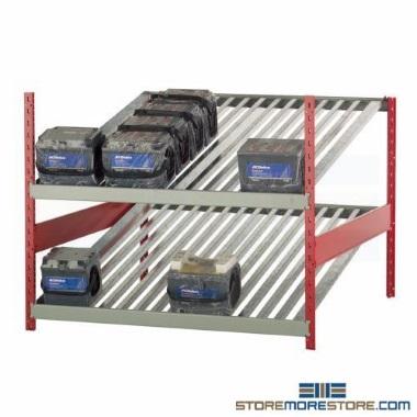 counter high car battery storage racks