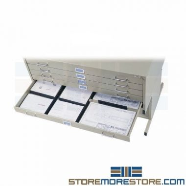 flat print storage cabinets