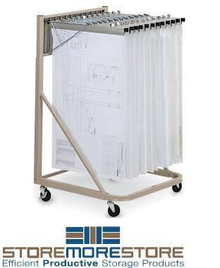flat print storage carts