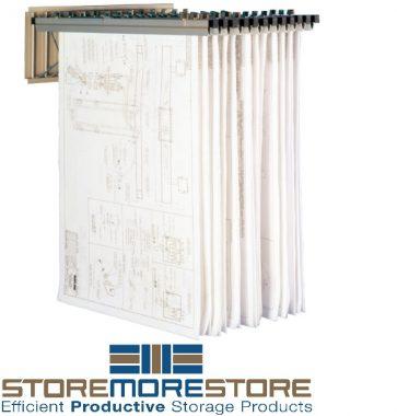 flat print storage wall racks
