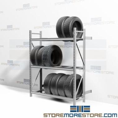 heavy-duty boltless car tire wall storage racks