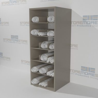rolled plan drawings shelves