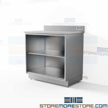 stainless base cabinet counter kits