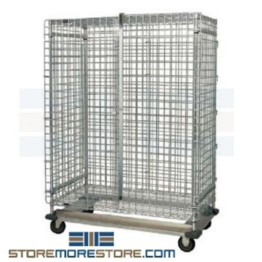 stainless caged security carts