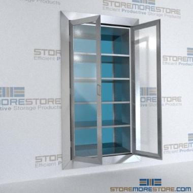 stainless pass-thru wall storage cabinets