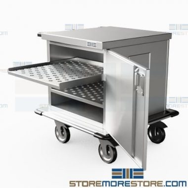 stainless steel surgical case carts