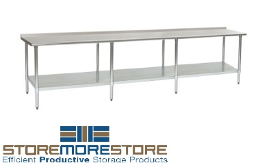 stainless tables storage shelves