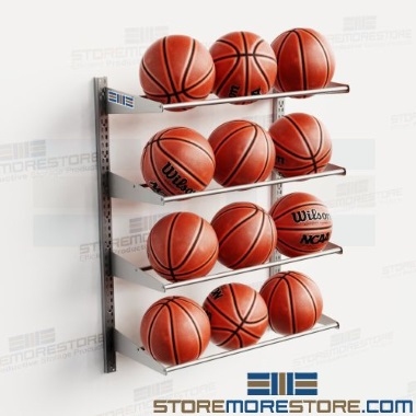 ball sports fitness equipment wall racks