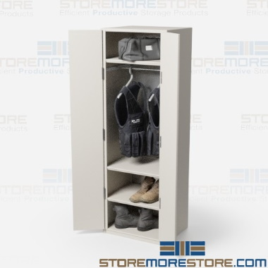 SWAT team gear storage lockers