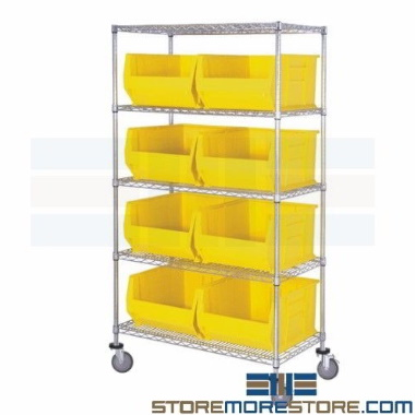 big tote wire shelving carts