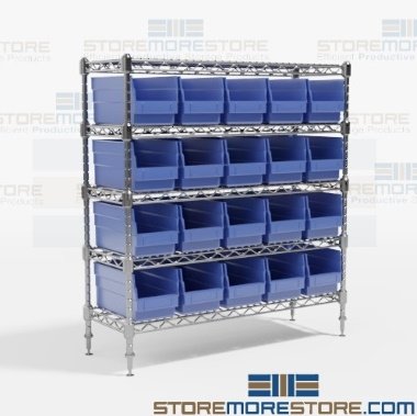 color plastic bin high density wire shelving