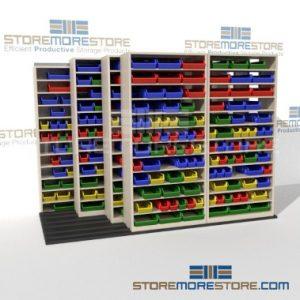 high capacity sliding bin shelves