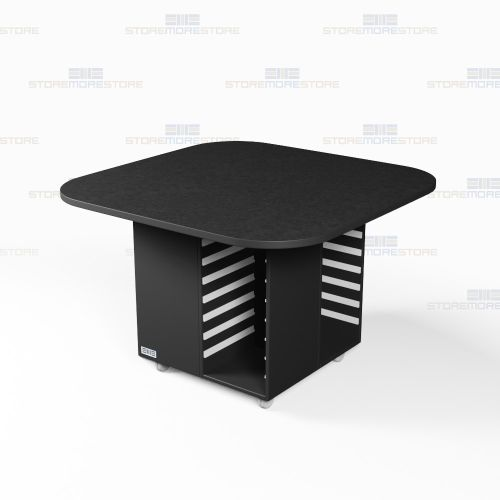 island work desks square top