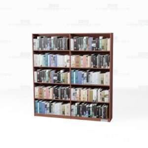 kitted library bookcase shelves