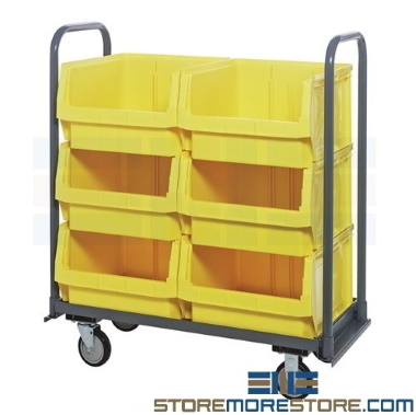 large automotive repair parts bin carts