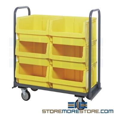 large automotive repair parts bin carts
