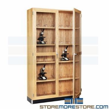 learning lab microscope school storage cabinets