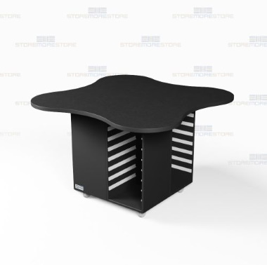 school classroom mobile work island counters