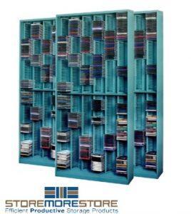 school CD sliding shelves