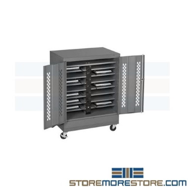 school laptop charging storage carts