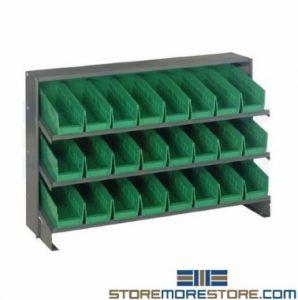 slant bin shelving workbenches