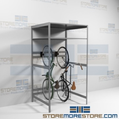 vertical school bike storage racks