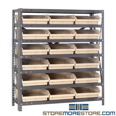 waist high bulk bin shelves