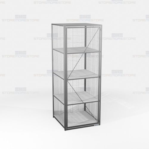 wire mesh pass-thru lockers