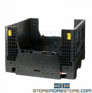 collapsible bulk storage bins