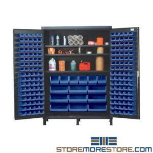 industrial bulk bin storage cabinets