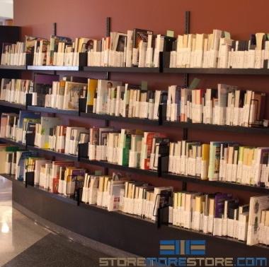 kitted library media wall display racks