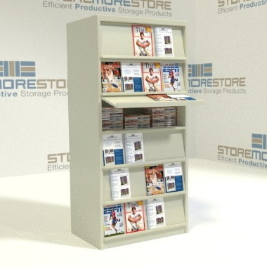 kitted periodical display shelving organizers