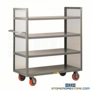 industrial material handling shelf carts