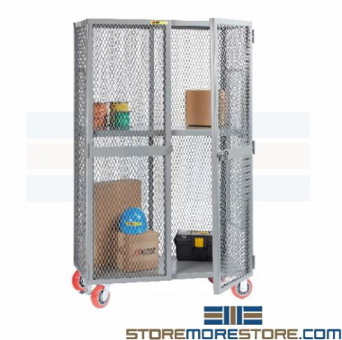 vented mobile storage lockers