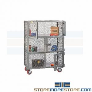 heavy duty ventilated mobile storage cabinets