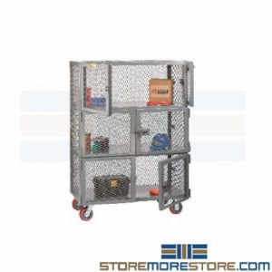 wire mesh utility carts