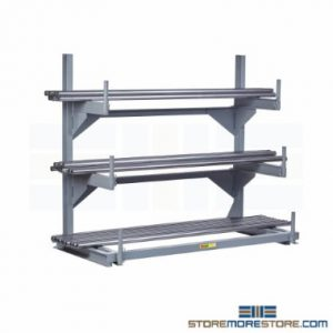 horizontal pipe bar stock storage racks