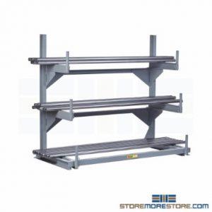 horizontal pipe bar stock storage racks