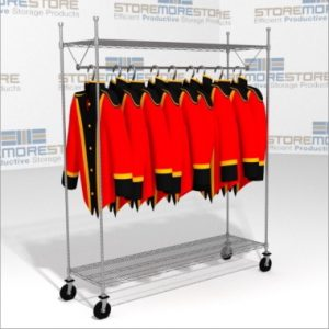 rolling wire shelving carts store organize preserve uniforms
