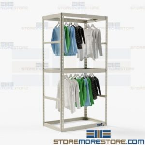 hanging storage shelves store organize preserve uniforms