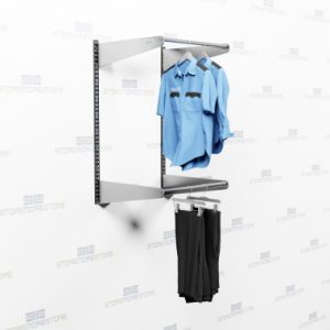 wall mounted garment racks